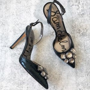 New Sam Edelman Mark Jewel Slingback Heels